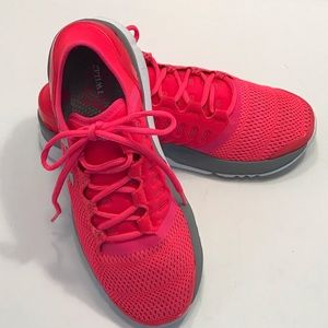 Under Armour Hot Pink/Gray Charged Running Shoes
